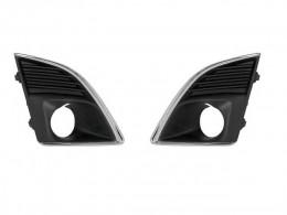 Решетки противотуманных фар для Chevrolet Cruze 2013- с хром окантовкой