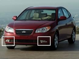 Противотуманные фары Hyundai Elantra (2006-) с проводами и кнопкой