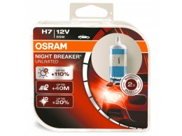 Комплект ламп Osram H7 12V 55W NIGHT BREAKER UNLIMITED+110