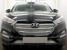 Защита радиатора Hyundai Tucson 2015- 2018 верх (Comfort, Lifestyle, Primary, Family, Travel, Prime, Dynamic, High)