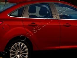 Нижние молдинги стекол (нерж.) 8 шт. Ford Focus III Sedan (2011-)