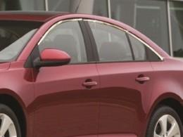 Верхние молдинги стекол (нерж.) Chevrolet Cruze, 6 частей