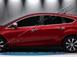 Верхние молдинги стекол (нерж.) 8 шт. Ford Focus III Hatchback (2011-)