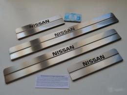 Накладки на пороги Nissan Note (ступенчатые) краска