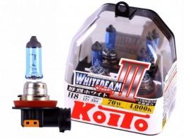Лампы Koito H8 12V 35W (70W) Whitebeam III (2шт.)