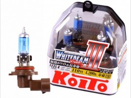 Лампы Koito HB4/9006 12V 55W (100W) Whitebeam III (2шт.)
