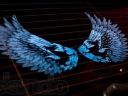 Графический эквалайзер Крылья дракона синий