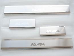 Накладки на пороги Ford Kuga  2013 Premium