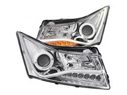 Тюнинг-оптика для Chevrolet Cruze стиль Audi хром