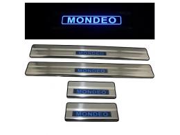 Накладки на пороги Ford Mondeo с подсветкой