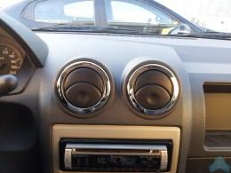 Хром окантовка воздуховодов Renault Logan