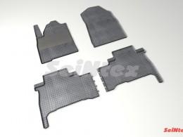 Коврики резиновые (рисунок Сетка) для Toyota Land Cruiser 200 2007-2012