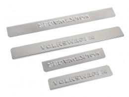 Накладки на пороги для Volkswagen Polo (нерж. сталь)