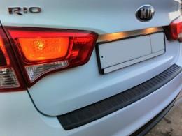 Накладка на бампер Kia Rio Sedan (2015-2017)