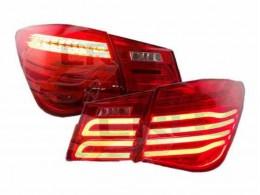Задние тюнинг фонари для Chevrolet Cruze в стиле Mercedes E-class 2014 красные